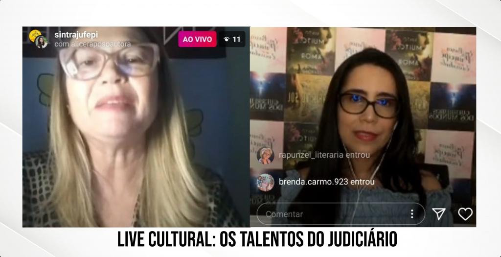 Live Cultural tem bate-papo descontraído com a escritora Alice Raposo
